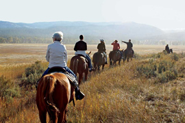 horseback riding gravelly range
