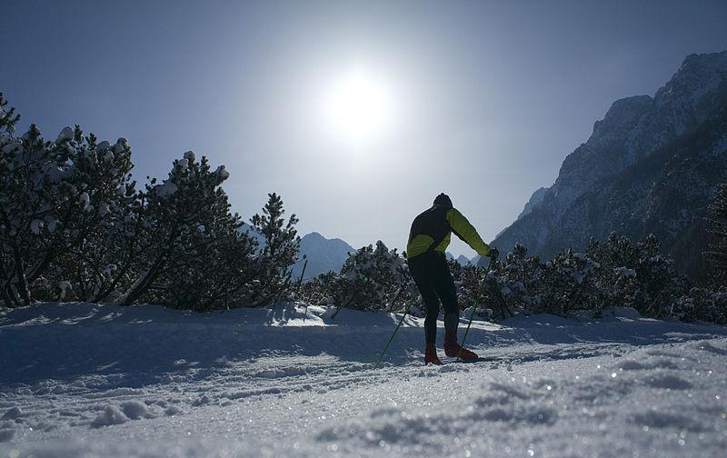 cross country skier montana