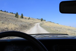 Driving along the Gravelly Range Road
